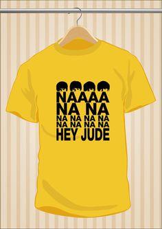 Camiseta Hey Jude #TheBeatles #Beatles #TShirt #Tee #Art #Design con envío #gratis sólo en www.UppStudio.com