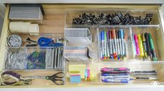 Kelley Nan: Organized and Functional Office Supply Drawers