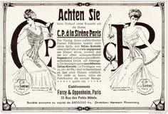 Original-Werbung/ Anzeige 1907 - SIRÈNE - KORSETT FARCY & OPPENHEIM - PARIS - Ca. 160 X 110 Mm - Werbung