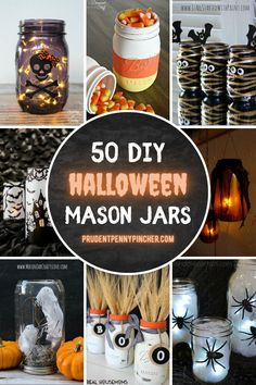 Get crafty with these creative mason jar halloween crafts. From cute DIY pumpkin mason jars to spooky mummy mason jars, there are plenty of fun mason jar halloween crafts for adults to choose from. These mason jar crafts make great halloween decorations and halloween centerpieces. Cheap Halloween Decorations, Halloween Centerpieces, Halloween Crafts For Kids, Halloween Diy, Halloween Stuff, Holidays Halloween, Holiday Crafts, Holiday Fun, Crafts To Make