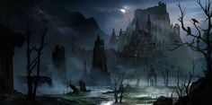 ArtStation - Creepy Castle, hongqi zhang