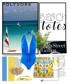 """""""Flora Bella Beach Tote"""" by zoe-keredy ❤ liked on Polyvore featuring Lazul, Flora Bella and Dolce&Gabbana Fashion Stylist, Flora, Stylists, One Piece, Beach, Polyvore, Swimwear, Outfits, Bathing Suits"""