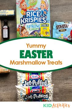 Instructions on how to make Easter marshmallow treats. Holiday Activities For Kids, Easter Activities, Classroom Snacks, School Snacks, Easter Snacks, Easter Treats, Healthy Party Snacks, Yummy Snacks, Rice Krispie Treats