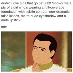 ~I love girls who look natural~