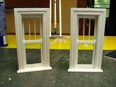 MAKING A 1 INCH SCALE WINDOW FROM MAT BOARD - How to make a 1 inch scale dollhouse window from mat board. - Dollhouse Miniature Furniture ...