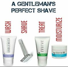 A gentleman's perfect shave! Treat yourself or the man in your life to a perfect shave.