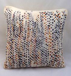 """Hand felted abstract cushion 'Bark'. Approx. 16"""" x 16"""" (40.5 cm x 40.5 cm).. $102.50, via Etsy."""