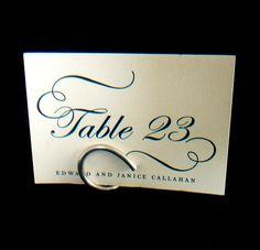 Wedding Table Number Holders Modern Wedding by HomesAndWeddings, $36.00