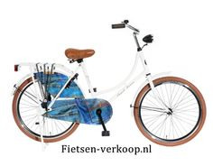 Omafiets Jeans Wit 24 Inch   bestel gemakkelijk online op Fietsen-verkoop.nl