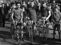 Jack, Norman and Ken - an early race in Newcastle - wearing homemade cycling…