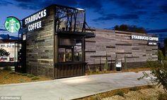 Modular Starbucks drive-through design.