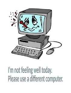Post this on a computer that is broken at the moment to let students know not to use that computer. Cute for elementary computer labs.