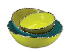 Studded Stacking Bowls- Peacock by Magenta