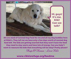 Rikki's Refuge DOGS need your help! URGENT NEED FOR CANNED DOG FOOD! Learn how you can help here: http://rikkisrefuge.org/?p=9027