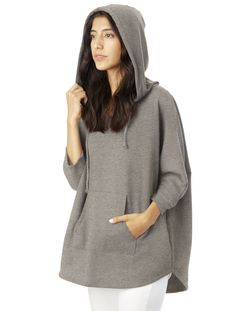 Our hybrid warmup poncho is the ultimate layering piece, keeping your head and hands warm with a hood and kangaroo pocket - but it wears lighter than a hoodie with dolman sleeves and a boxy fit. <span>Made in a WRAP-certified Factory</span>
