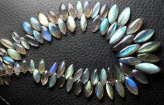50 Cts Super Finest Blue Flash Labradorite Smooth by BSGEMS, $26.99