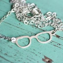 Tiny Silver Glasses Necklace  from Diament Jewelry