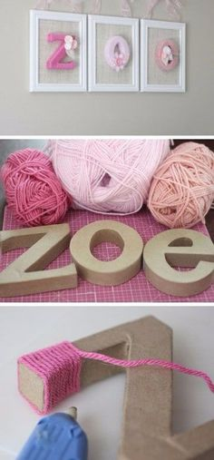 Yarn wrapped letters is part of Cute girls bedrooms - [ad Yarn wrapped letters Click the image for 20 Craft Ideas for Girls DI , bastelideen briefe wrapped up click [ad Source by anetteberchgmx Crafts For Girls, Diy For Girls, Diy And Crafts, Kids Diy, Baby Crafts, Decor Crafts, Kids Girls, Baby Girls, Room Crafts