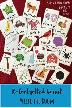 R-Controlled Vowel Resources including a FREE poster and other activities R Controlled Vowels Activities, Vowel Activities, Writing Activities, Teaching Resources, Reading Intervention, Reading Skills, Teaching Reading, American Reading Company, Picture Cards