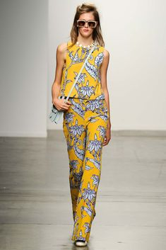 I don't normally do yellow. Or flowers, but this Karen Walker combo is growing on me.  Spring 2015 Trend Report