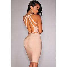 Cut-Out Mini Bandage Dress LAVELIQ SALE