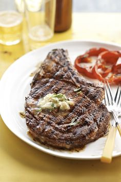 This cowboy steak and whiskey butter is one of the best grilled recipes we've ever tried.