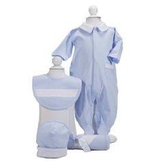 classic blue layette set- preemie