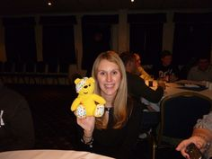 Jenny Woodrow supports the Paul Strank Roofing Photothon with Pudsey! #pudsey #cin #pudseyphotothon