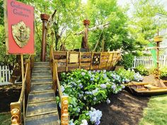 Amazing pirate themed children's garden play area