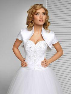 Coprispalle Sposa Raso CON Manica Corta Varie Taglie Colori Nuovo B1 | eBay