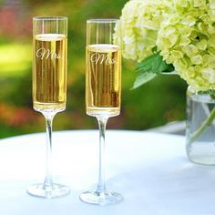 fb1297ef4d9 Mrs. & Mrs. Contemporary Champagne Flutes