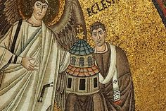 Deal of the Mosaic in the Apse in San Vitale in Ravenna. Source: Wikipedia