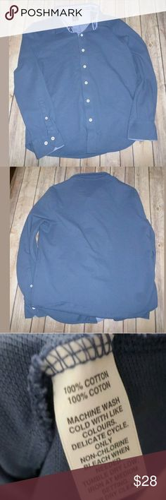 "Black Saks Fifth Avenue Men's Slim Fit Shirt L Black Saks Fifth Avenue Men's Blue Slim Fit Button Down Shirt Size Large  Great shape  Nice color  Slim Fit  Chest: 19"" L: 25"" Saks Fifth Avenue Black Label Shirts Casual Button Down Shirts"