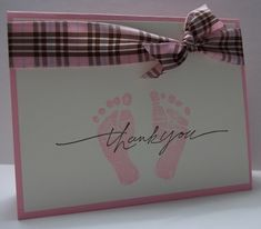 Baby Thank You by Shelly923 - Cards and Paper Crafts at Splitcoaststampers
