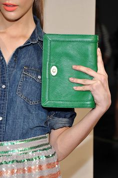 Green Envelope clutch at J. Crew