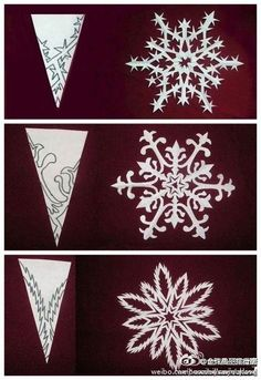 Christmas snowflake paper cutting