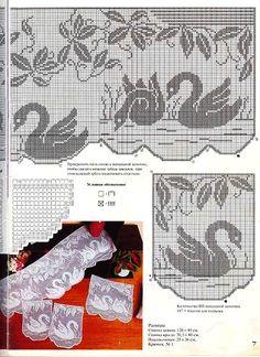 Crochet Curtain Patterns Part 7 - Beautiful Crochet Patterns and Knitting Patterns Crochet Curtain Pattern, Crochet Curtains, Curtain Patterns, Crochet Tablecloth, Crochet Doilies, Crochet Birds, Crochet Cross, Crochet Home, Thread Crochet