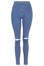 PETITE Pretty Blue Ripped Joni Jeans