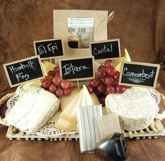 """Perfect for your party tray! No longer will you be bombarded by your guests asking """"What cheeses are being served tonight?"""". Just put it on your chalk board cheese sign. Stick the sign on a toothpick, and the toothpick into the cheese. Thats it. Hip and simple."""