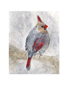 Nature bird art woodland bird painting by ThimbleSparrow on Etsy, $20.00