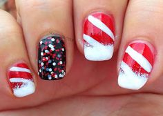 Glossy and Glitter: Candy Canes & Peppermint Pinwheels