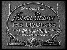 A collection of movie title stills from trailers of feature films. This page contains titles and typography of films from 1930 to 1934 Robert Montgomery, Norma Shearer, Movies Worth Watching, Title Card, Hooray For Hollywood, Movie Titles, Old Movies, Vintage Hollywood, Classic Movies