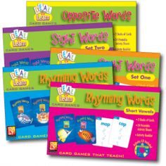 Beginning and struggling readers alike will love practicing important reading skills with these  card games which are variations of traditional favorites--Go Fish, Old Maid, and Concentration.