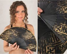Burning Man Hand Held Folding Fan with Sacred Geometry Art Steampunk Coat, Steampunk Skirt, Steampunk Clothing, Jedi Outfit, Goth Outfit, Burning Man, Festivals, Fashion Foto, Pixie Outfit