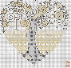 Cross-stitch Zentangled Tree.. no color chat available, just use the pattern chart as your color guide.   Gallery.ru / Фото #17 - обереги - anapa-mama