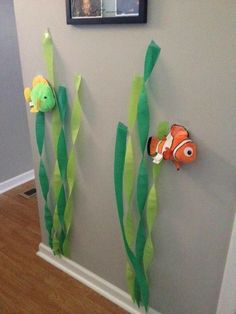 New birthday party decorations ideas crepe paper 16 Ideas 2nd Birthday Parties, Birthday Party Decorations, Fish Decorations, Disney Party Decorations, Birthday Ideas, Mermaid Birthday, Finding Nemo, Fishing Rods, Ice Fishing