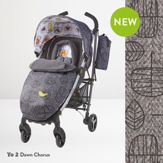Go sophisticated with Cosattos latest print - Dawn Chorus. Available on selected prams, strollers & car seats. Gray Tree, Grey Pattern, Prams, Snug, Baby Strollers, Car Seats, Smooth, Fabrics, Profile