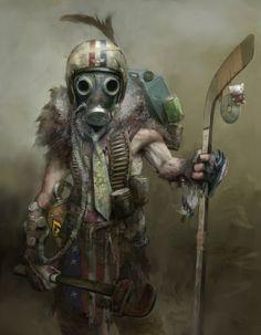 post apocalyptic warrior - artist unknown