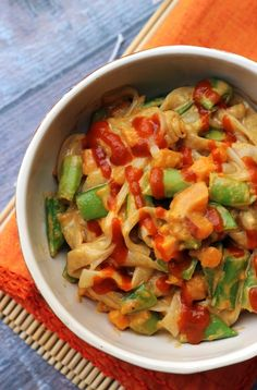 Spicy Thai Peanut Vegetable Curry Noodles | Nasoya
