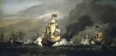 Ludolf Bakhuizen - The Battle of the Texel was fought between the Dutch and an Anglo-French fleet near Texel Island, off the Dutch coast.